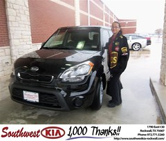 #HappyAnniversary to Anna Flores on your 2013 #Kia #Soul from Kathy Parks at Southwest KIA Rockwall!