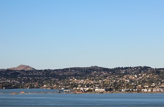 OCT 27-2014 Looking north at the city of Benicia in Solano County from Carquinez Strait Regional Shoreline Park in Martinez, CA, USA. 145