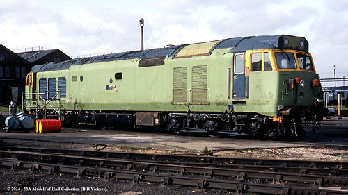 train superb diesel railway works britishrail doncaster southyorkshire refurbished brel class50 50002