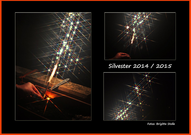 Silvester Neujahr Bengalische Hölzer Goldregen Silverregen Gitterfilter Bokeh Fotospielereien Brigitte Stolle Mannheim