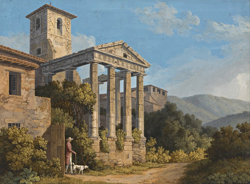 Jakob Philipp Hackert - The Temple of Hercules in Cori near Velletri (1783)