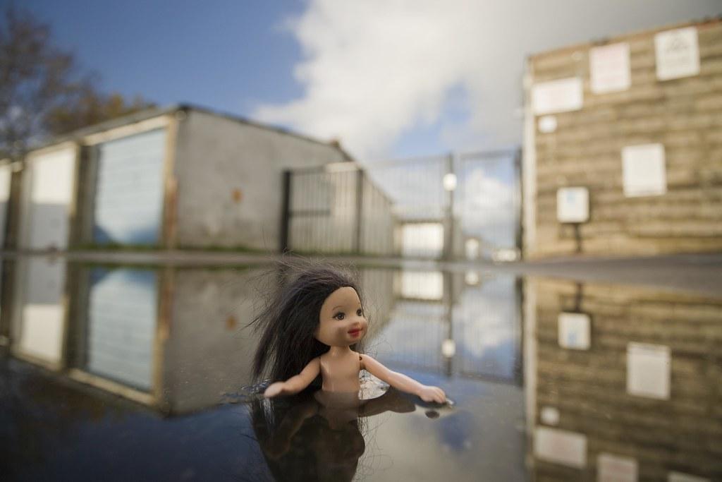 Naked Girl Skinny Dipping