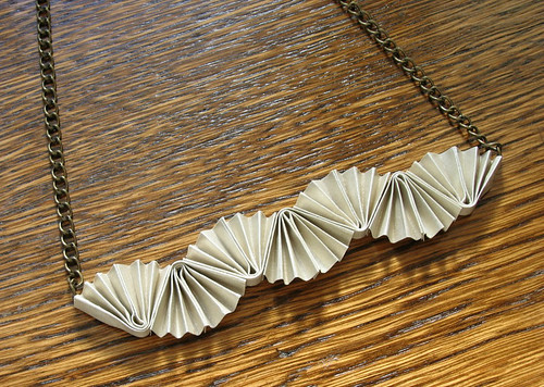 Folded Paper Necklace Tutorial