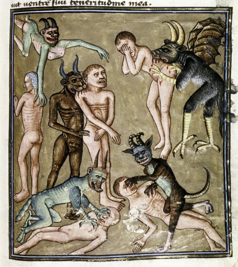 Demons From The Livre de la vigne nostre Seigneur, 1450 - 70 (6)