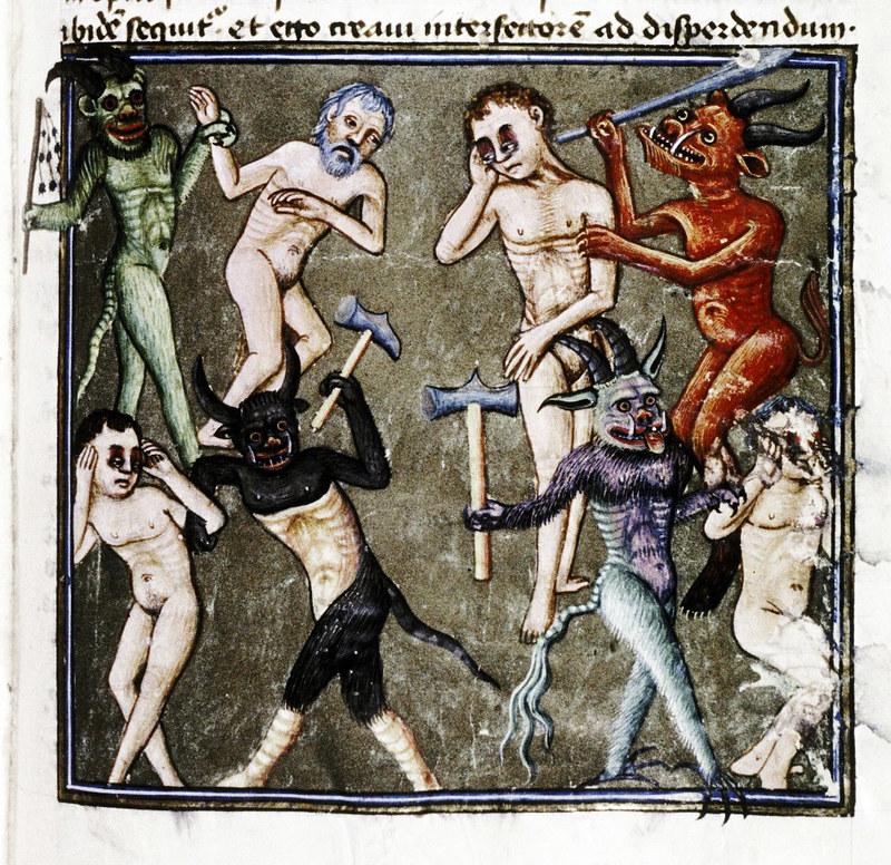 Demons From The Livre de la vigne nostre Seigneur, 1450 - 70 (8)
