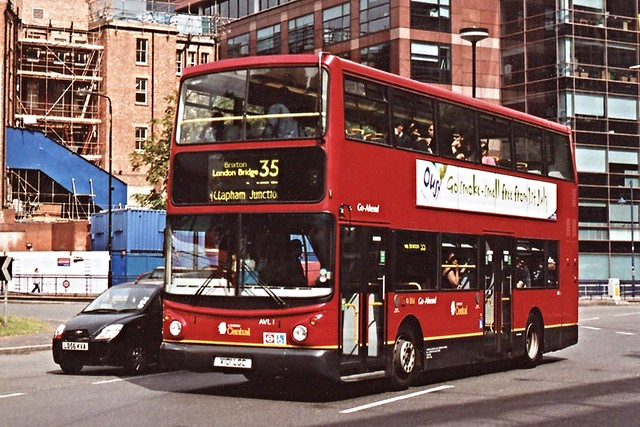 Go Ahead . London Central Buses . AVL1 V101LGC . Elephant & Castle , London . July-2007 .