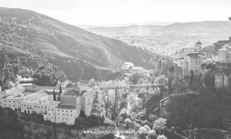 Postal de Cuenca en Balnco y Negro