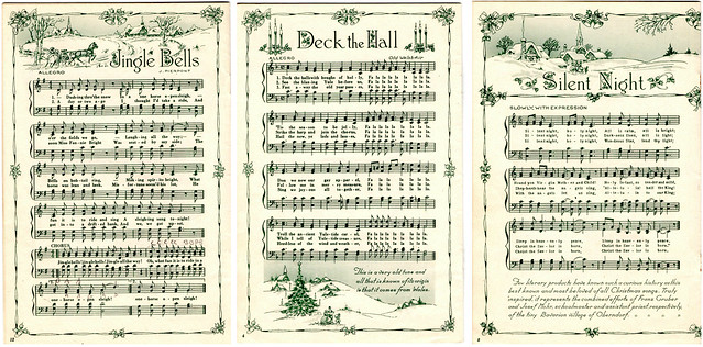 i couldnt find the original source for these images i would have loved to find the original book but i was able to create links for you to download - Free Christmas Sheet Music