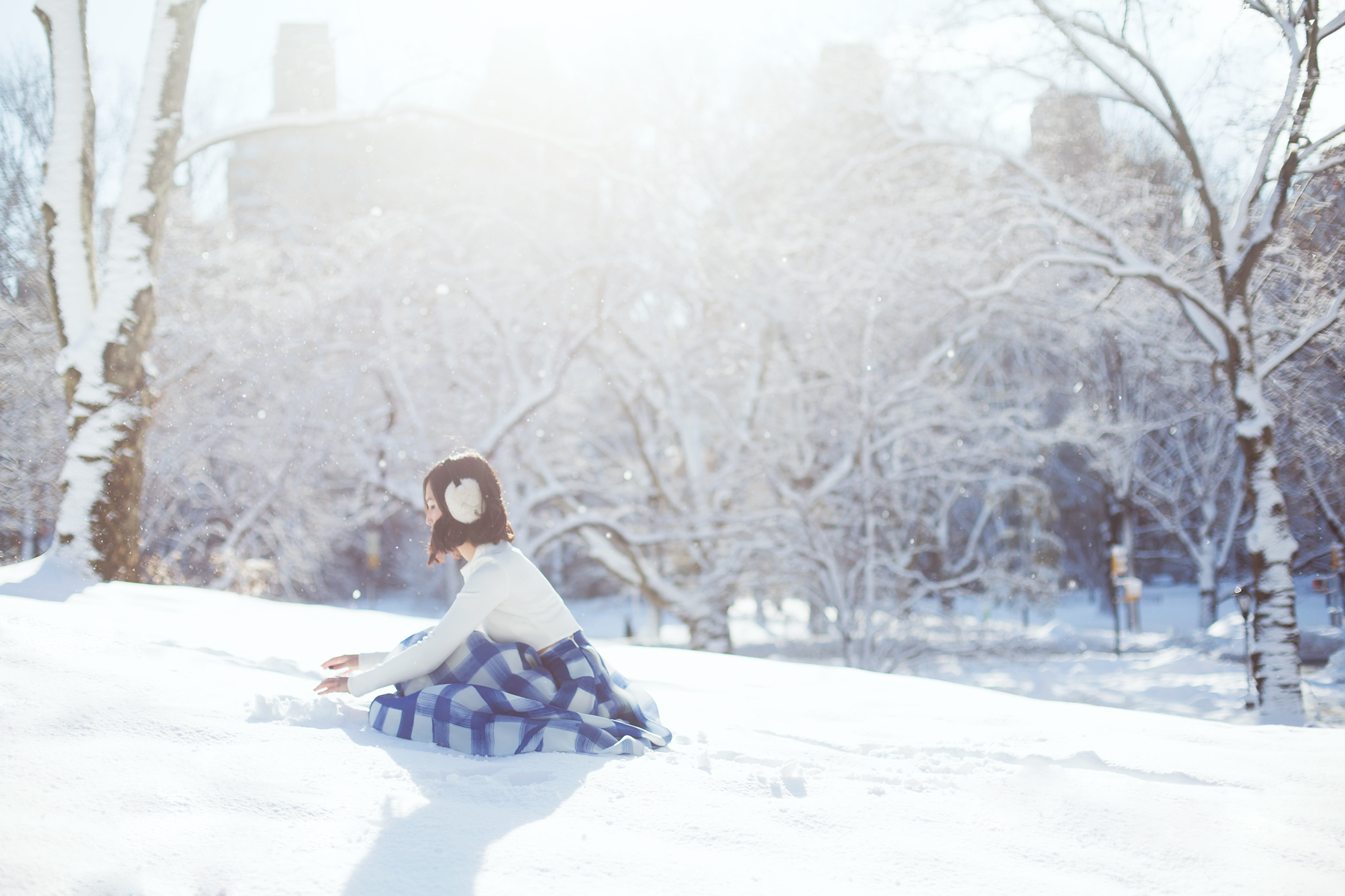 Winter in Central Park with Nicole, photo by Carin Olsson (Paris in Four Months)