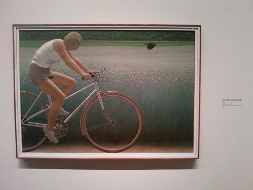"""Cyclist and Crow"""