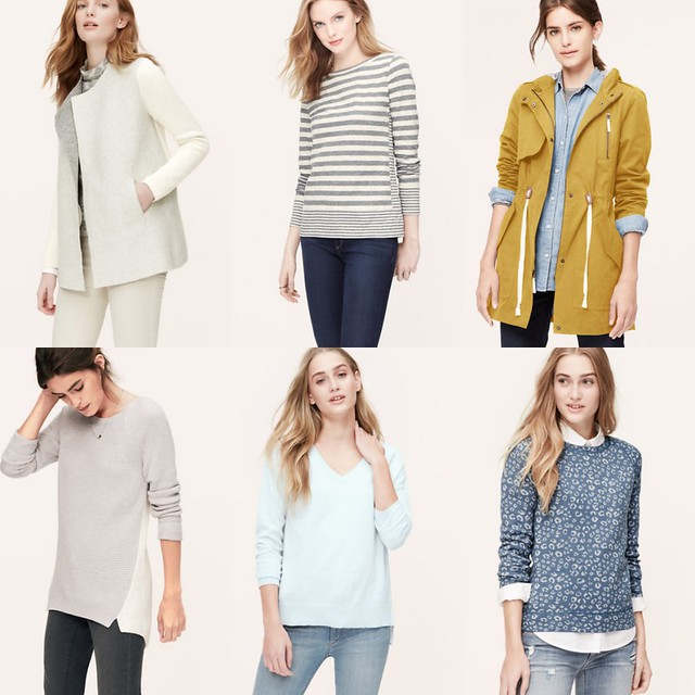12092014 LOFT SALE - 50% off full-priced sweaters and tops, extra 40% off sale items.