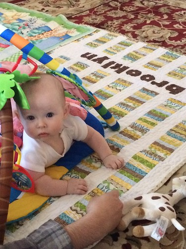 Brooklyn on Baby Quilt