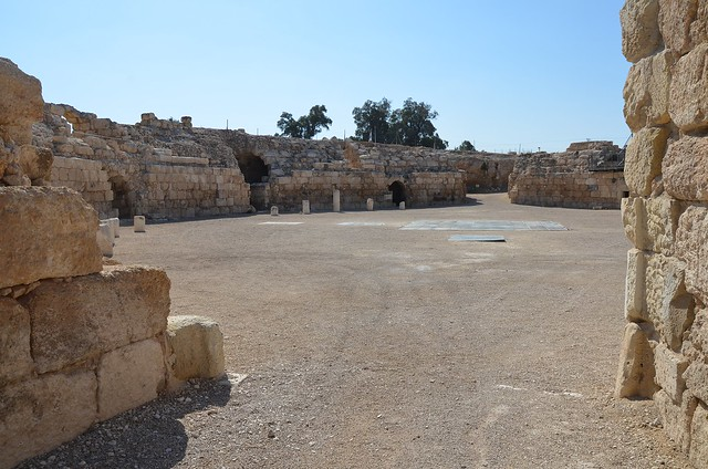 Roman Amphitheatre, built by the Roman army units stationed there, Eleutheropolis (Beit Guvrin), Israel