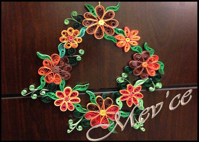 quilled wreath