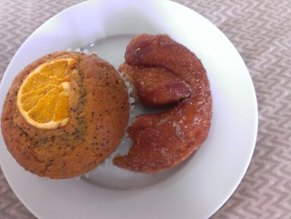 Orange Poppyseed Muffins and Doughnut (from Crumbs)