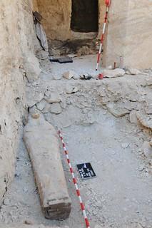 El equipo español está excavando la tumba del Visir Amen-Hotep.
