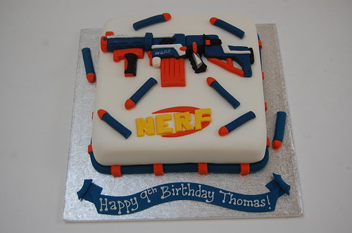 Nerf Gun Cake Beautiful Birthday Cakes