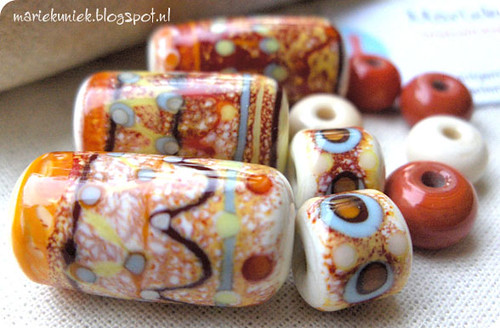 Ethnic Beads Red&Yellow