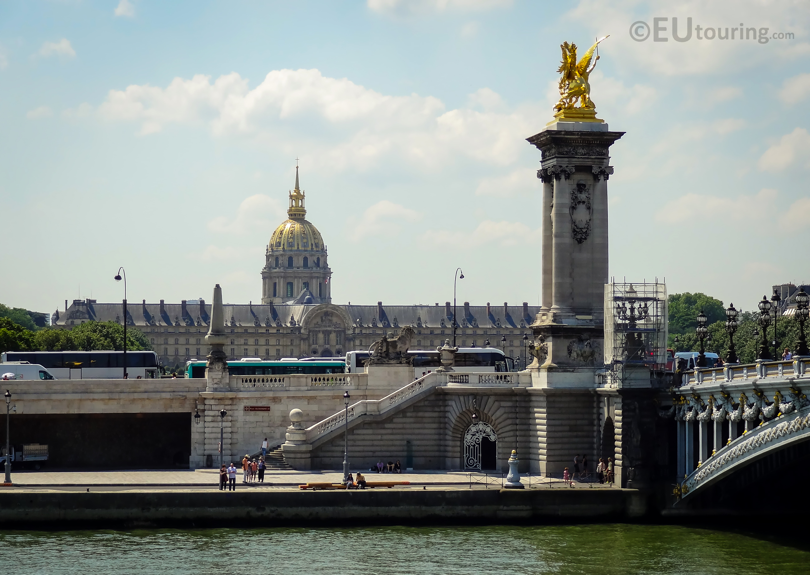 Les Invalides and Pont Alexandre III