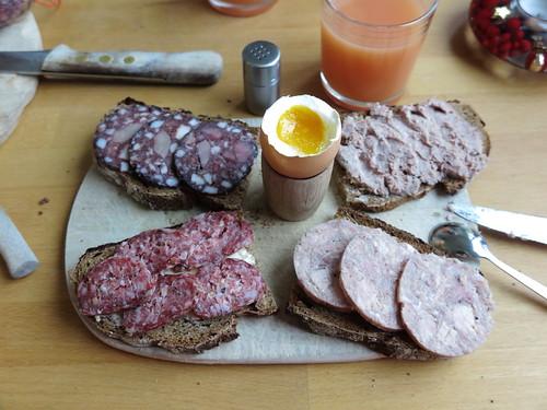 Frühstück mit Wurst von Werner