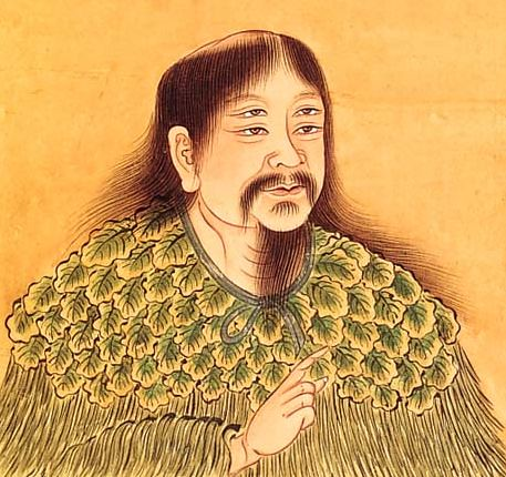 Depiction of legendary Chinese sovereign Cangjie