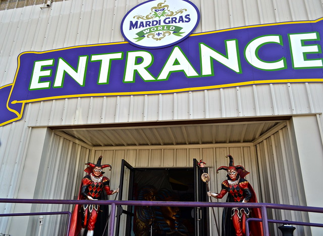 Mardi Gras World New Orleans main gate