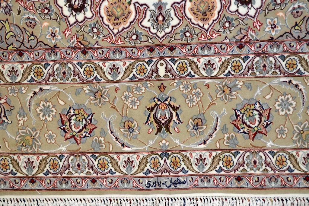 Isfahan Fine 7x10 persian Area Rug Earth Tone Color (3)