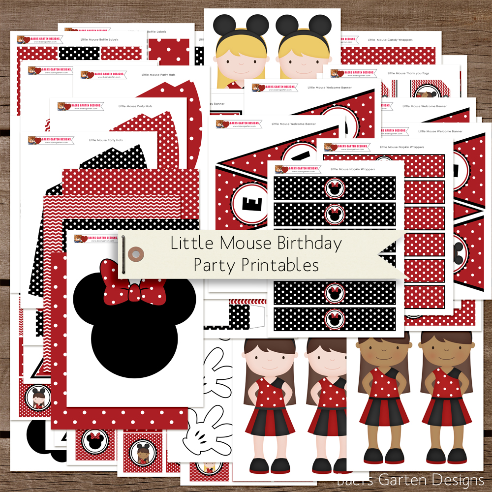 Minnie Mouse inspired birthday printables
