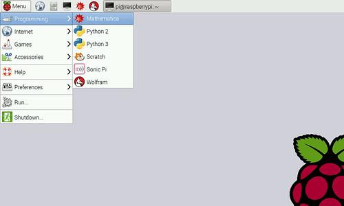 Raspbian LXDE desktop környezet