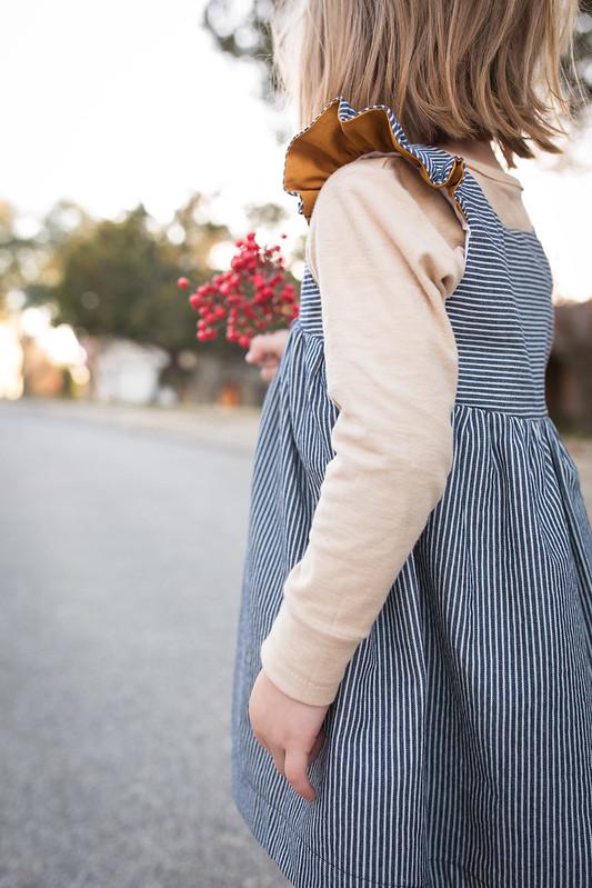 bohemian babydoll dress + ottobre tshirt