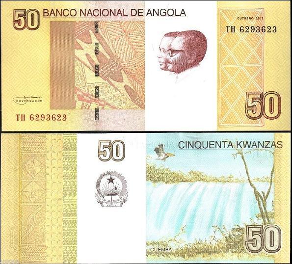 50 Kwanzas Angola 2012 (2013)