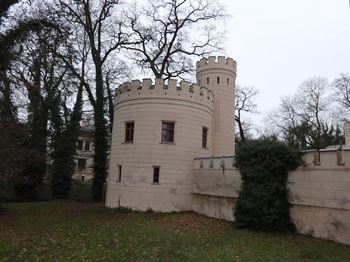 1843/53 Letzlingen Eckturm neogotisches Jagdschloß der Hohenzollern von Friedrich August Stüler/Ludwig Ferdinand Hesse Schloßstraße in 39638