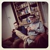 #studio Blowm & Maddin warten auf die Gitarre. Reden is nich. Photo: Reddig  #dillcomminication