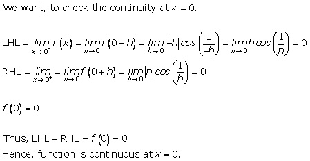 RD Sharma Class 12 Solutions Chapter 9 Continuity Ex 9.1 Q10-i
