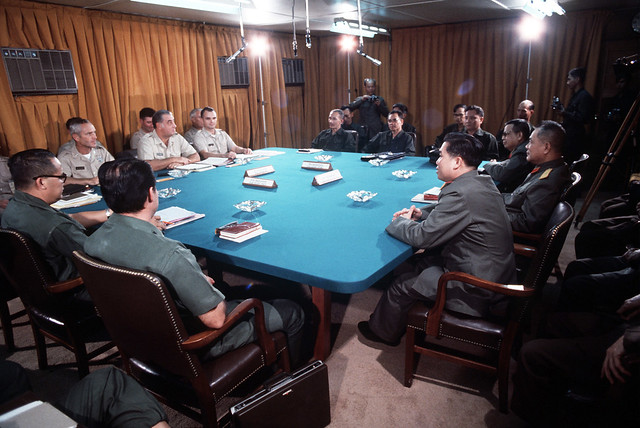 Trại Davis, Tân Sơn Nhứt 1973 - Buổi họp của Ban Liên hợp Quân sự 4 bên chuẩn bị cho cuộc trao trả tù binh tại Lộc Ninh,