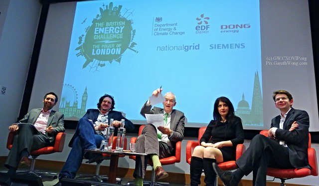 Prospect Magazine's British Energy Debate Panel #powerlondon @EdwardDaveyMP @jonsnowC4 @jayrayner1 @ShappiKhorsandi @mpencharz @DECCgovuk from RAW _DSC6687