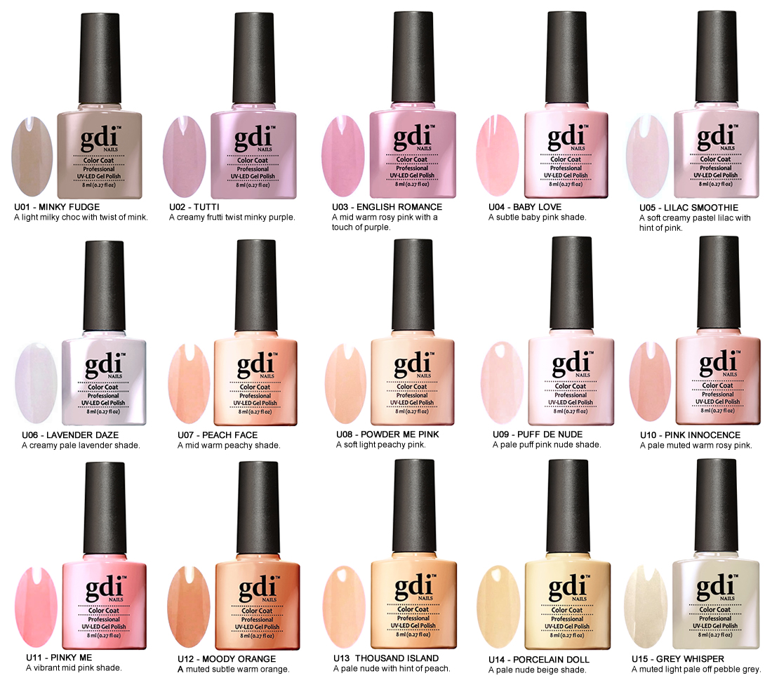Gel Nail Polish Uk: UK SELLER GDi Nails Nude Range UV/LED Soak Off Gel Nail