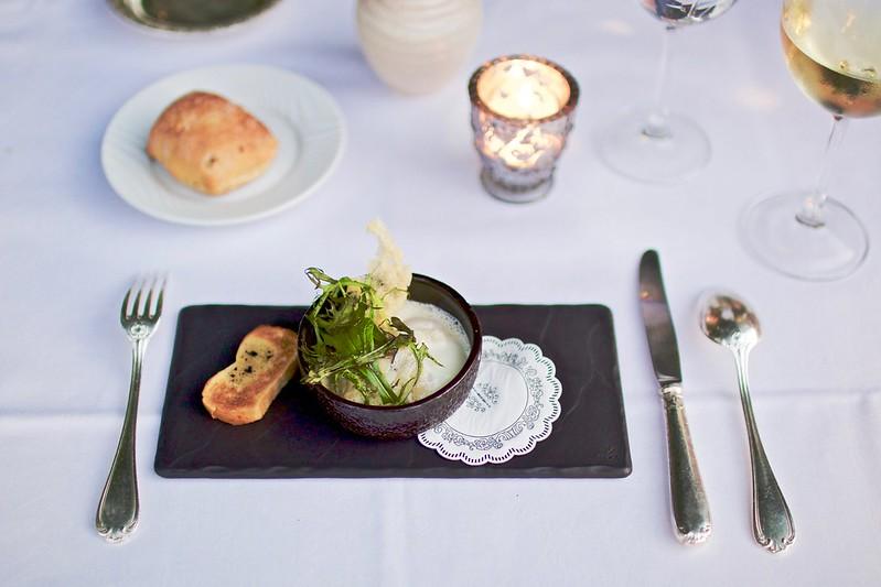 Manoir Roseraie dinner first course