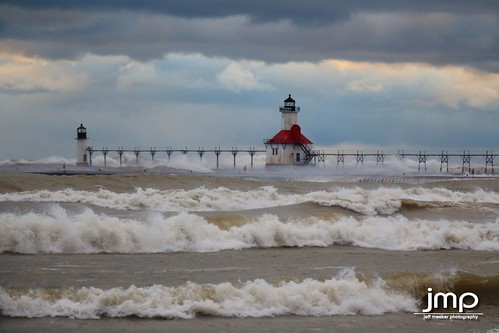 red lighthouse white lake storm halloween clouds canon grey interestingness interesting dangerous crash michigan windy spray lakemichigan explore canondslr sanddunes stormclouds silverbeach westmichigan michiganlighthouses turbulent stjosephmichigan sandbetweenthetoes stjosephlighthouse exploremichigan canon650d puremichigan dangerousseas cloudsstormssunsetssunrises canont4i michigangottaluvit