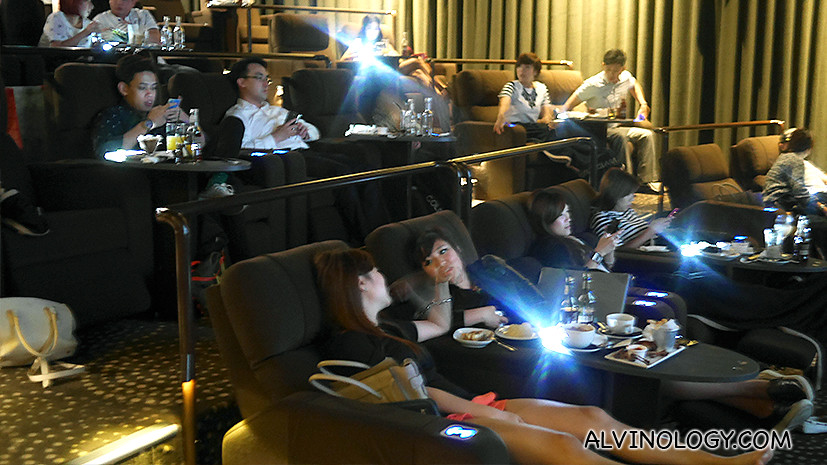 The seats in the new GV Gold Class at GV Suntec City
