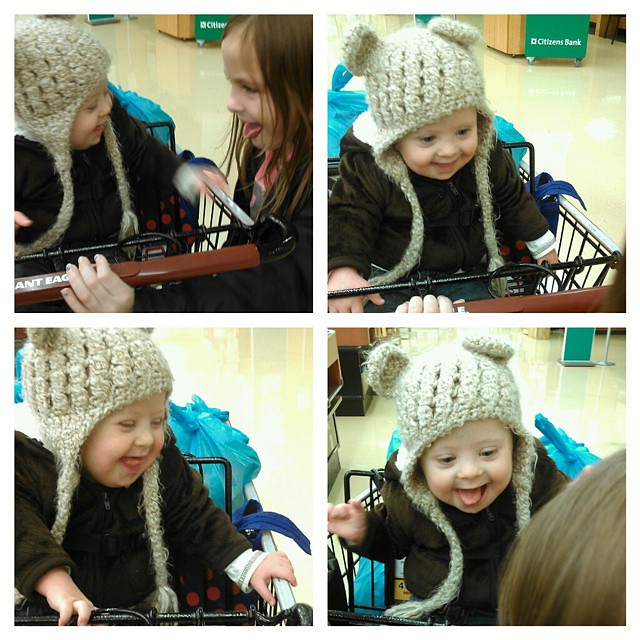 Grocery Shopping shenanigans with Lexie and Liam. Only 2 kids with me today...it felt like a vacation! Also, Liam is NEVER allowed to have a fiber one bar again. I was ready to pass out gas masks to the other people in the store!