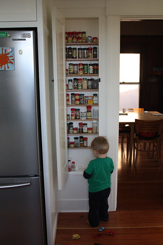 In-Wall Spice Cabinet