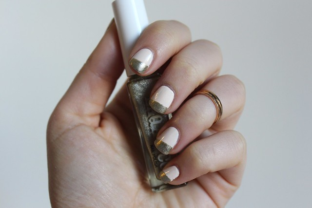 Nude & Gold Nails | #LivingAfterMidnite