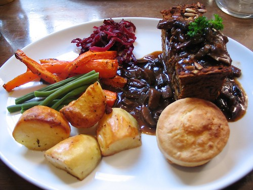 Vegan Sunday roast at Goji, York