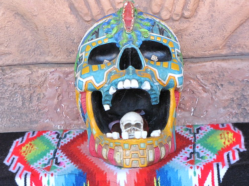 Day of the Dead Skull in a Skull Decoration