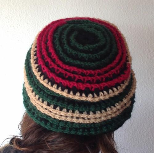 crochet hat back