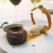 Sticky toffee pudding, creme fraiche sorbet, pecan macaron, coconut tuile