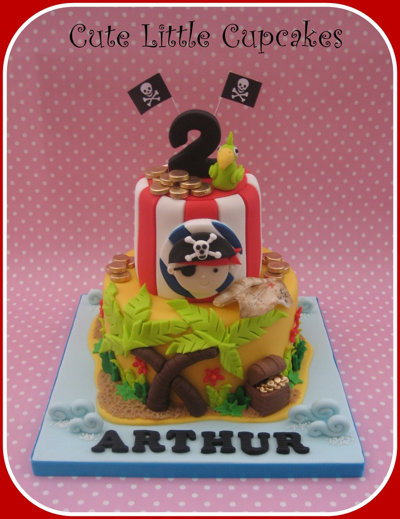 Fabulous Pirate Birthday Cake Heidi Stone Flickr Birthday Cards Printable Inklcafe Filternl