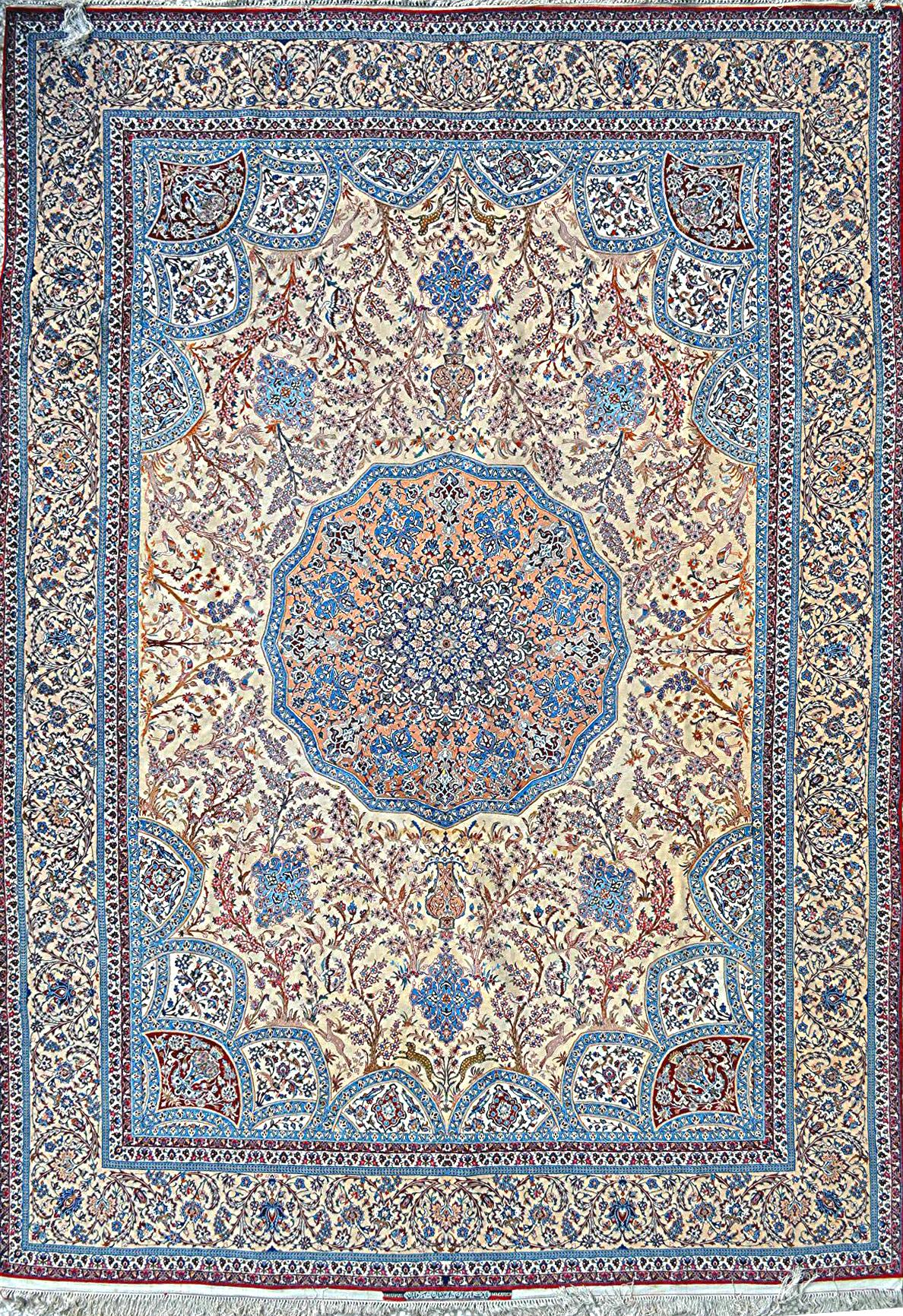 Aalighapo Grand Master Ahmad Seirafian Silk Persian Rug