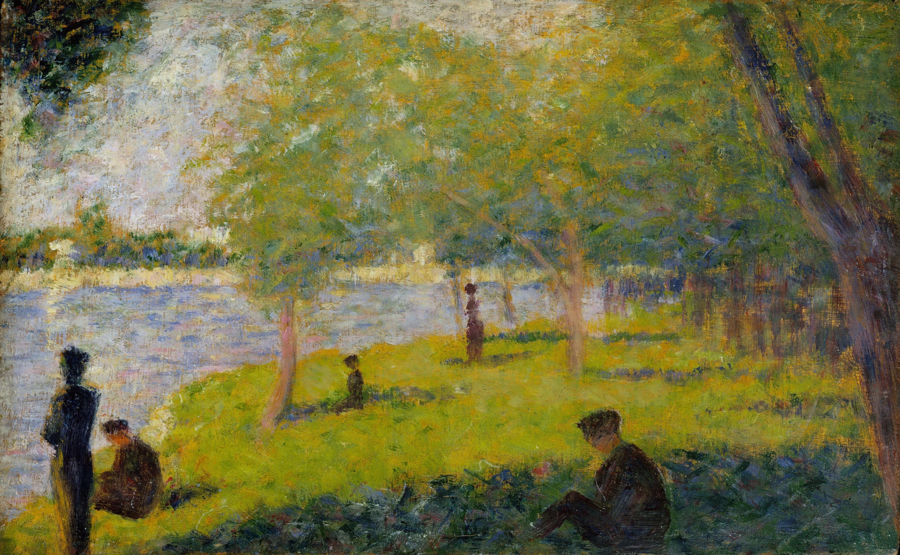 Georges Seurat - Study for A Sunday on La Grande Jatte [1884 ...